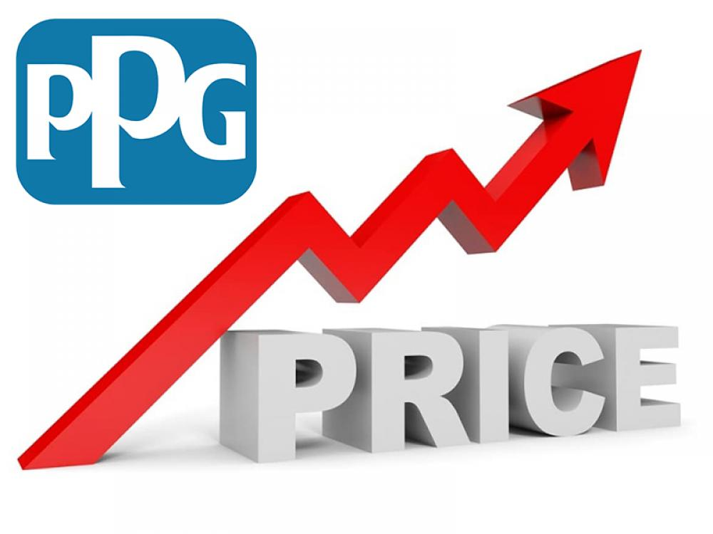 PPG Announces Global Price Increase on Industrial Coatings Products