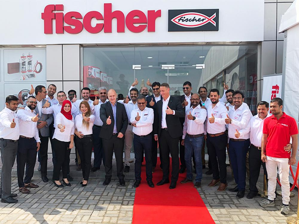 fischer opens large fixings centre in Abu Dhabi