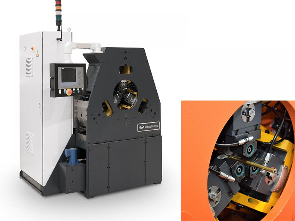 Mishima succeeds in twill knurling by step of hollow materials with a Regg 3 die rolling machine
