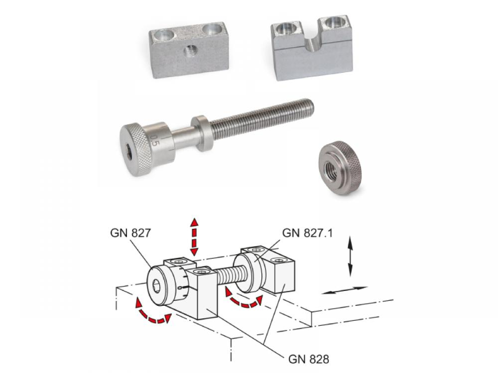 Ganter offers three new parts that complement each other perfectly